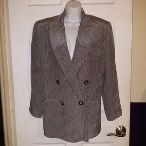 Linda Allard for Ellen Tracy Petite Silk Blazer